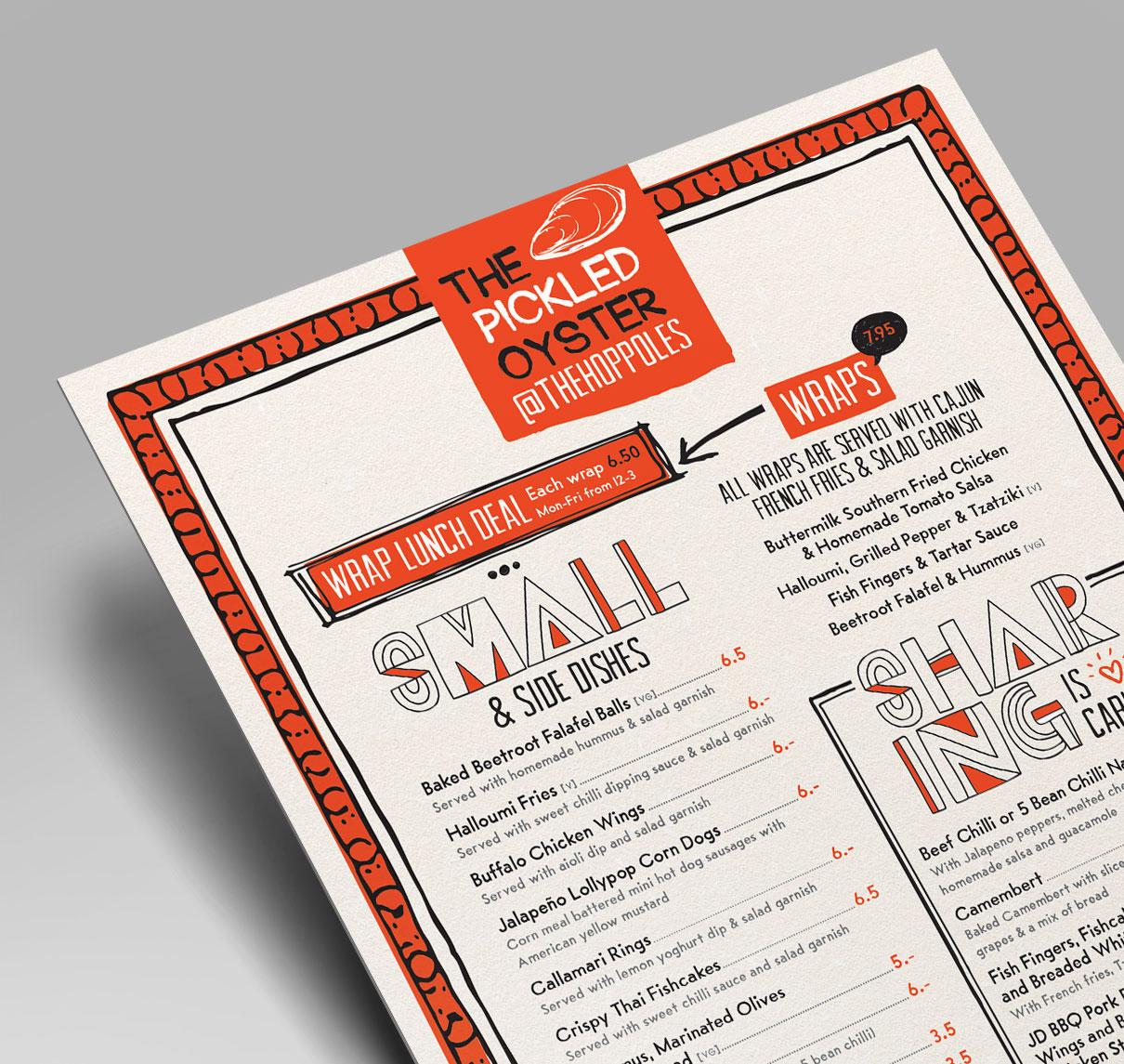 Hop Poles menu