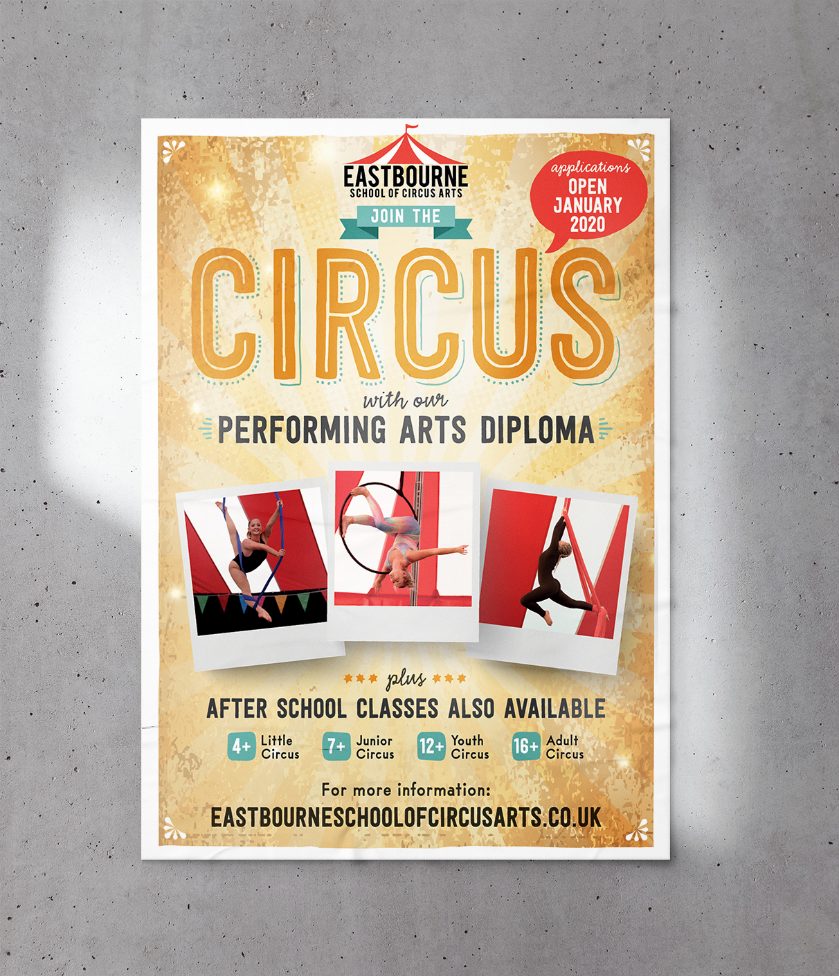 eastbourne school of circus arts poster