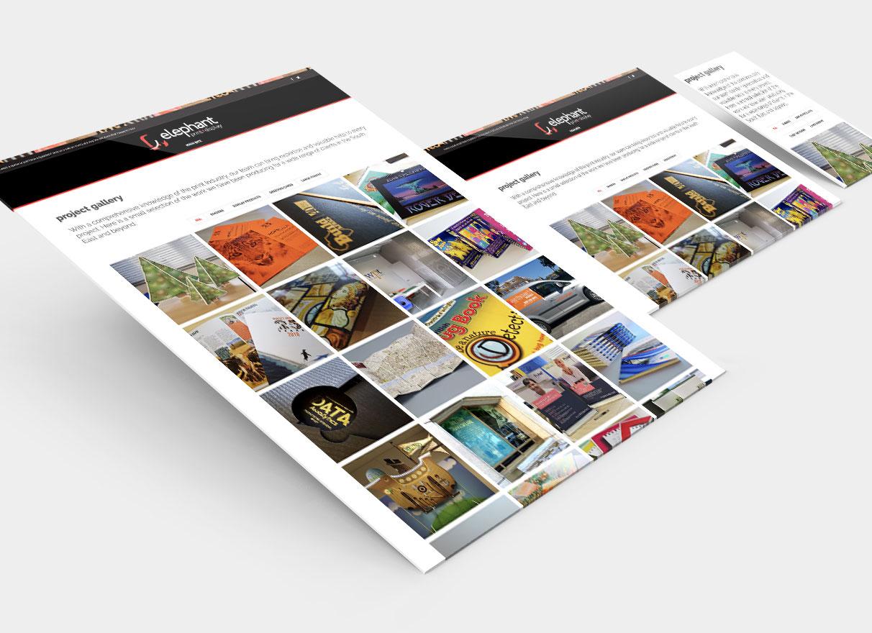 elephant print + display website