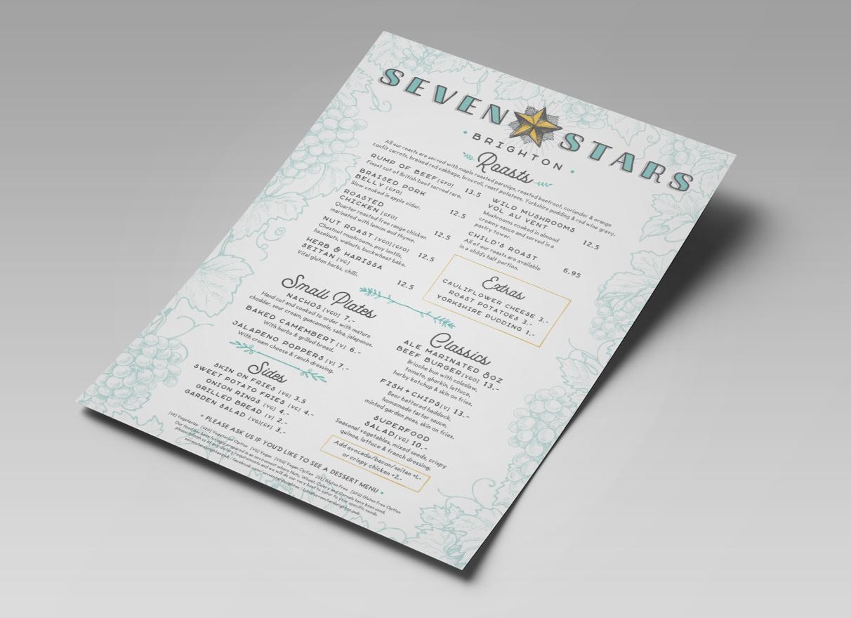 the seven stars brighton menu